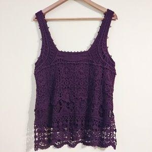 Pins and Needles Crochet Tank